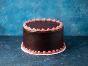 Midnight with pink trim layer cake