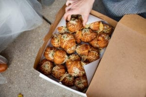 Box of Ham & Gruyere croissants