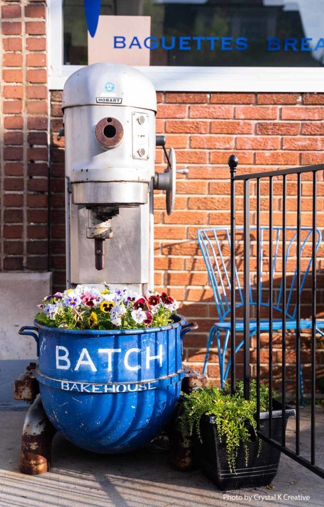 Mixer outside of Batch Bakehouse